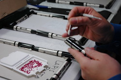 Precision hand work to create Visconti pen