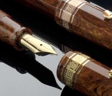 OMAS Burl Wood Celluloid Vintage Paragon